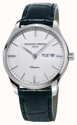 Frederique Constant Hommes classiques à quartz bracelet en cuir noir cadran blanc FC-225ST5B6