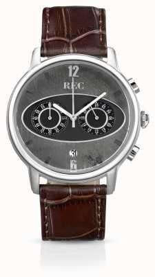 REC Mark 1 m1 chronographe bracelet en cuir marron M1