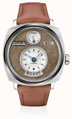 REC P51-02 mustang bracelet en cuir marron automatique