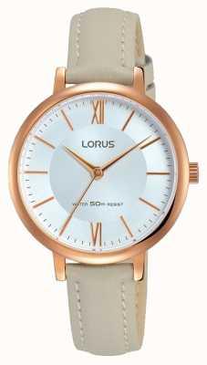 Lorus Bracelet en cuir gris doux Womans RG264LX7
