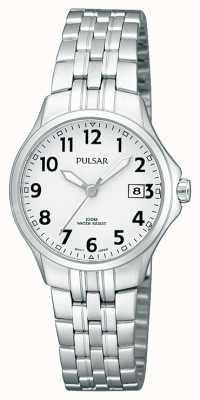 Pulsar Bracelet femme en acier inoxydable simple cadran blanc PH7221X1