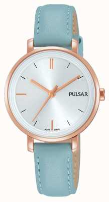 Pulsar Bracelet en cuir bleu pastel Womans PH8344X1