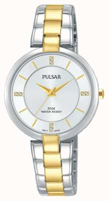 Pulsar Womans attitude deux tons en acier inoxydable cadran argent PH8314X1