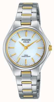 Pulsar Womans deux tons bracelet en acier inoxydable cadran argent PY5035X1