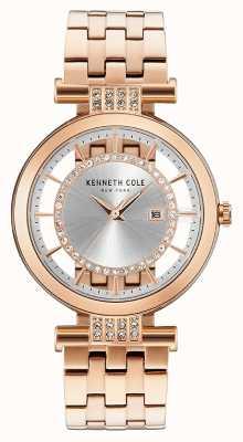 Kenneth Cole Bandoulière transparente pour femme Bracelet acier inoxydable rose KC15005004