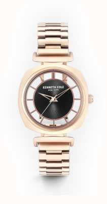 Kenneth Cole Bracelet en cuir rose doré noir Womans KC15108001