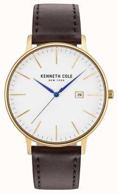 Kenneth Cole Bracelet en cuir brun foncé KC15059005