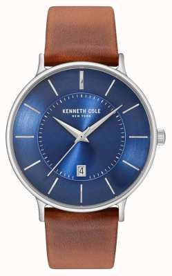 Kenneth Cole Bracelet en cuir marron pour homme KC15097001