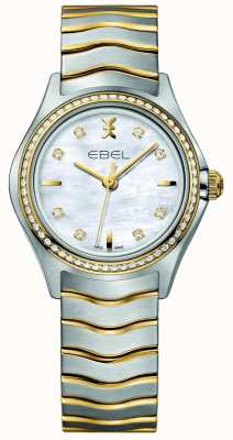 EBEL Montre Wave pour femme bicolore sertie de diamants 1216351