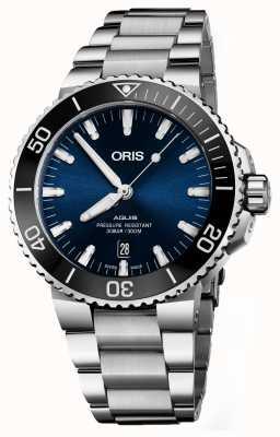 Oris Aquis date automatique en acier inoxydable cadran bleu 01 733 7730 4135-07 8 24 05PEB