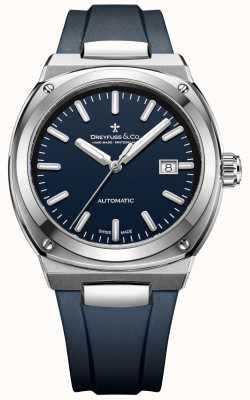 Dreyfuss Mens 1953 chronomètre automatique bleu foncé DGS00154/05
