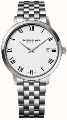 Raymond Weil Bracelet acier toccata cadran blanc pour homme 5588-ST-00300