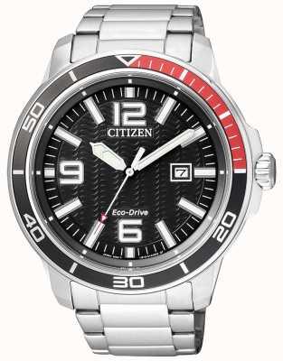 Citizen Cadran noir en acier inoxydable AW1520-51E
