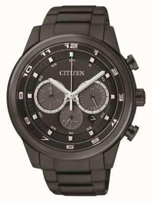 Citizen Hommes eco-drive chronographe noir ip CA4035-57E