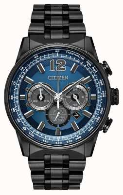 Citizen Homme eco-drive nighthawk chronographe noir ip CA4375-59L