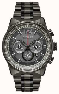Citizen Hommes eco-drive nighthawk chronographe noir ip CA4377-53H