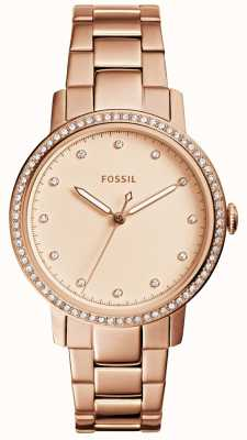 Fossil Montre en or rose à la mode ES4288