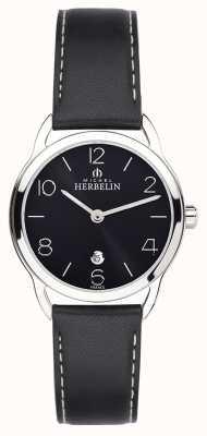 Michel Herbelin Montre à bracelet noir équinoxe femme 16977/14N