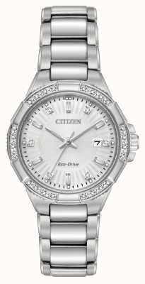 Citizen Jeu de diamants en acier inoxydable Riva eco-drive EW2460-56A