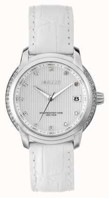 GANT Bracelet en cuir blanc lynbrooke pour femme cadran blanc W10714