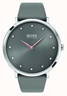 Hugo Boss Womans jillian regarde le cuir gris 1502413