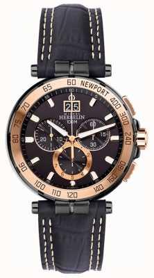 Michel Herbelin Mens newport yacht club chronographe bracelet noir cadran noir 36656/TR14