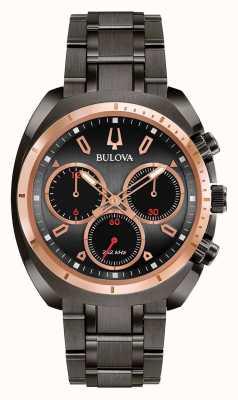 Bulova Bracelet plaqué ion noir sport curv pour hommes 98A158