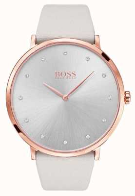 Hugo Boss Womans jillian rose étui en or cuir gris 1502412