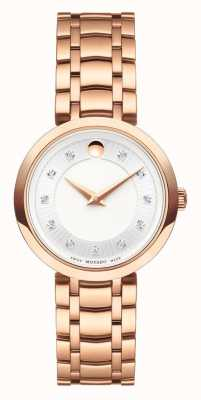 Movado Womens 1881 quartz bracelet en or rose 0607100