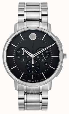 Movado Chronographe noir fin mince noir 0606886