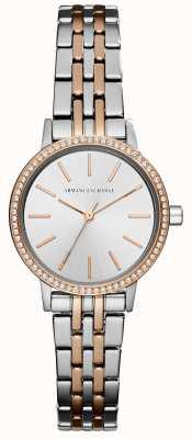 Armani Exchange Bracelet en acier inoxydable à deux tons Womans AX5542