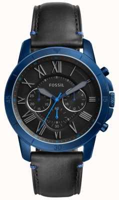 Fossil Montre chronographe noir et bleu FS5342