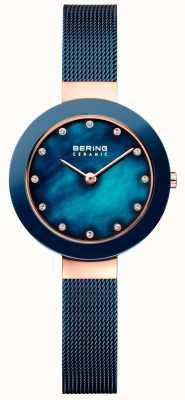 Bering Bracelet en céramique bleu millanais Womans 11429-367