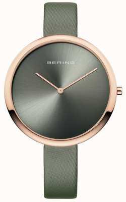 Bering Bracelet en cuir satiné classique Womans classique 12240-667