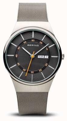 Bering Bracelet en maille argenté multifonction classique pour homme 12939-077