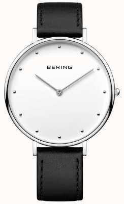 Bering Montre en cuir noir classique en unisexe 14839-404