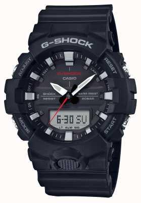 Casio Hommes g-shock alarm chrono bracelet en caoutchouc noir GA-800-1AER