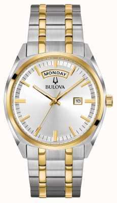 Bulova Bracelet classique en acier à deux tons pour hommes 98C127