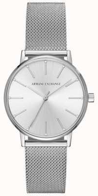 Armani Exchange Bracelet en maille en acier inoxydable pour femme AX5535