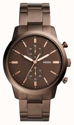 Fossil Chronographe homme citadin brun FS5347