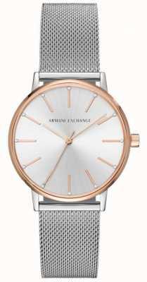Armani Exchange Womans en acier inoxydable maille bracelet bracelet montre AX5537