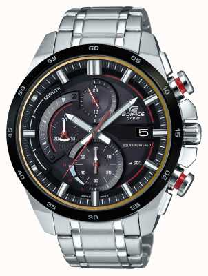 Casio Edifice 3d chronographe solaire alimenté en acier inoxydable EQS-600DB-1A4UER