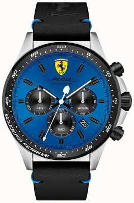 Scuderia Ferrari Montre cadran pilota bleu chronographe pour homme 0830388