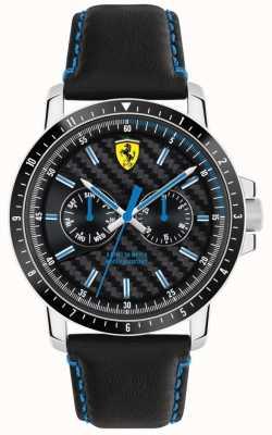 Scuderia Ferrari Bracelet cuir turbo noir 0830448