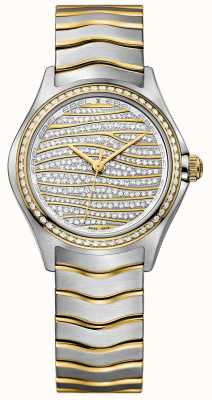 EBEL Montre en or 18 carats à 58 diamants Wave pour femme 1216285