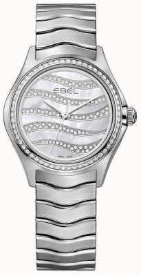 EBEL Montre en acier inoxydable diamant 94 1216270