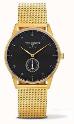 Paul Hewitt Bracelet en maille en or avec signature unisexe PH-M1-G-B-4M