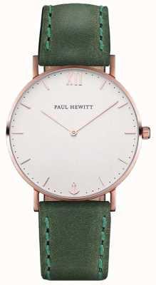 Paul Hewitt Braguotte de cuir vert marron unisexe PH-SA-R-ST-W-12M