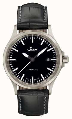 Sinn 556 i sports verre saphir en alligator noir cuir embossé 556.010-BL44201851001225403A