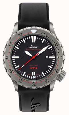 Sinn U212 ezm 16 mission timer u-boat acier noir sangle de silicone 212.040